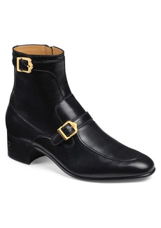 Gucci Ebal Double Buckle Boot (Men)