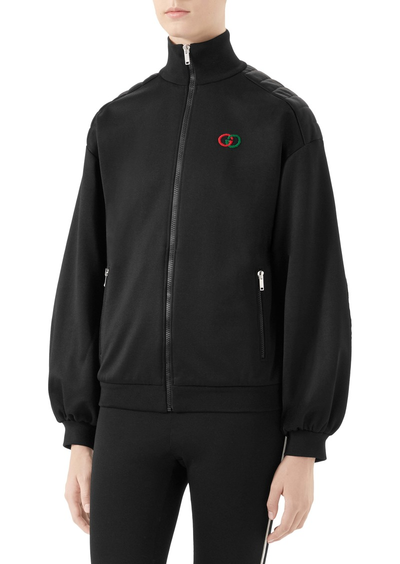 Gucci Elbow Pad Tech Jersey Jacket