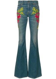 Gucci embellished flared jeans - Blue