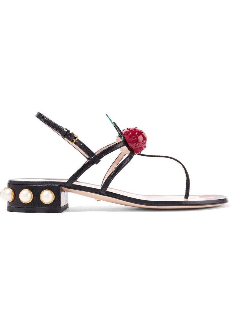 1bcd5a97f78e Gucci Gucci Embellished leather sandals
