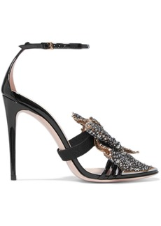 Patent Leather Sandals Embellished Leather Embellished Patent Sandals SUVMpqGz
