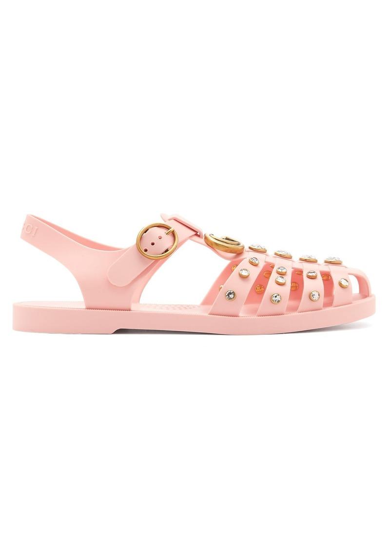 b4b2daba519b Gucci Gucci Embellished rubber sandals