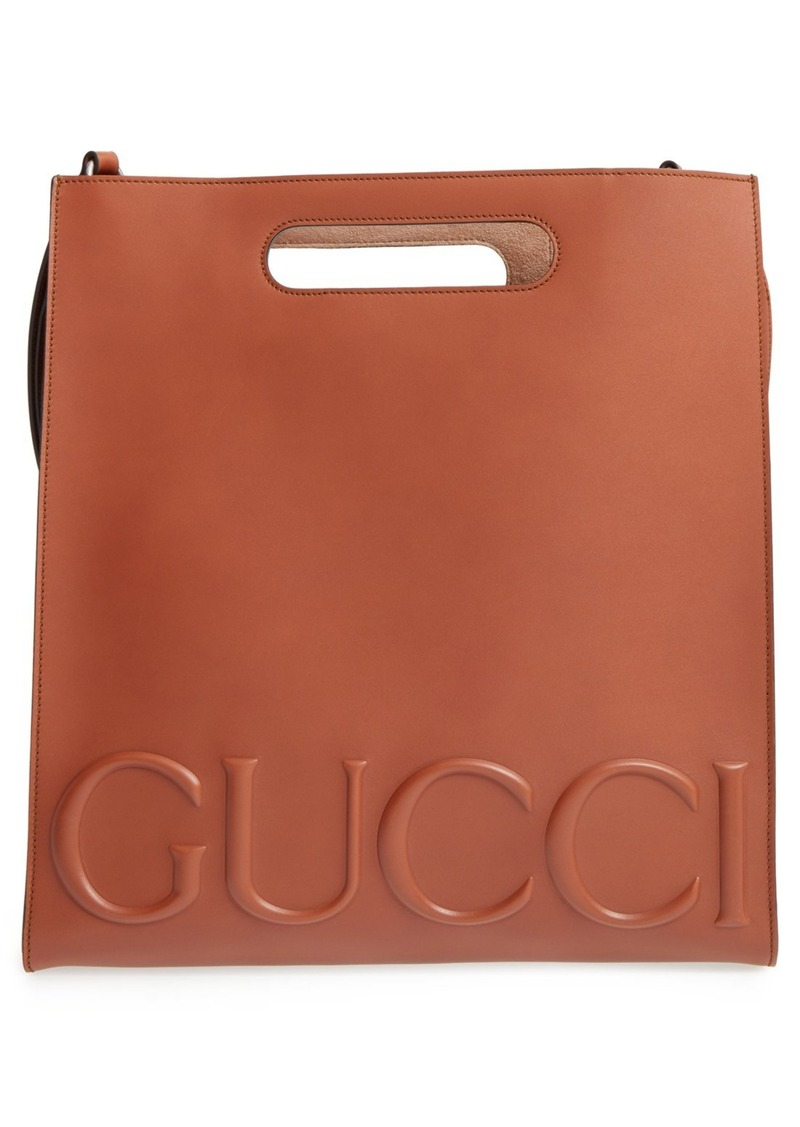 Gucci Embossed Calf Leather Tote