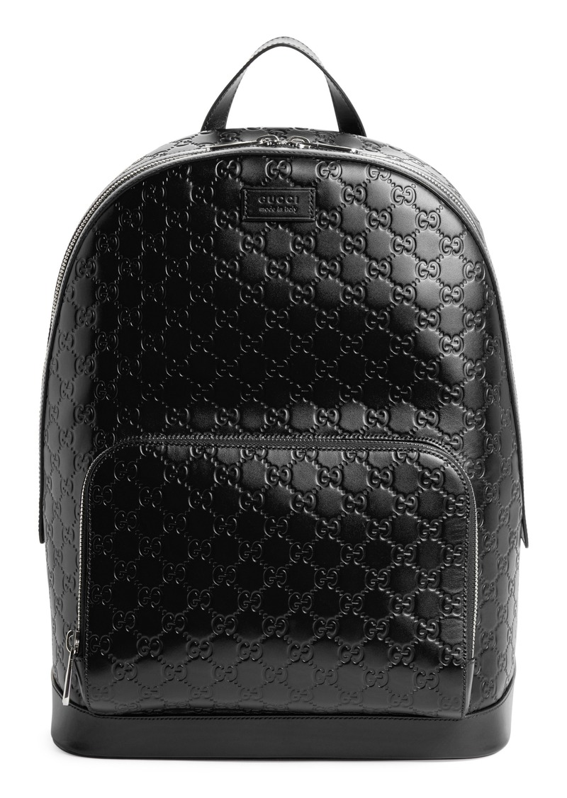 17f07291df44 Gucci Gucci Embossed Leather Backpack | Bags