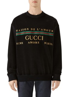 Gucci Embroidered Chenille Crewneck Sweatshirt