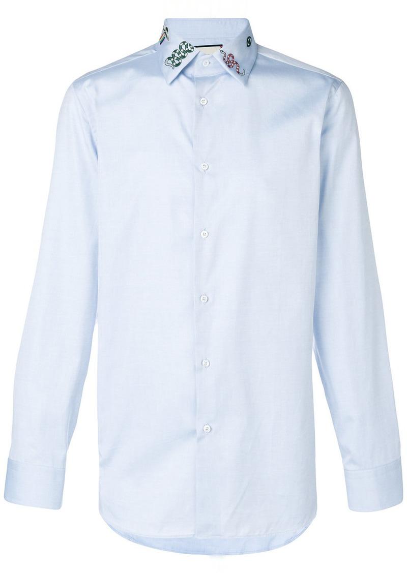 752b60c3ad2 Gucci embroidered collar shirt