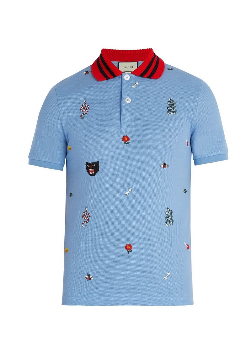 d64474fc9 Gucci Gucci Embroidered cotton polo shirt | Casual Shirts
