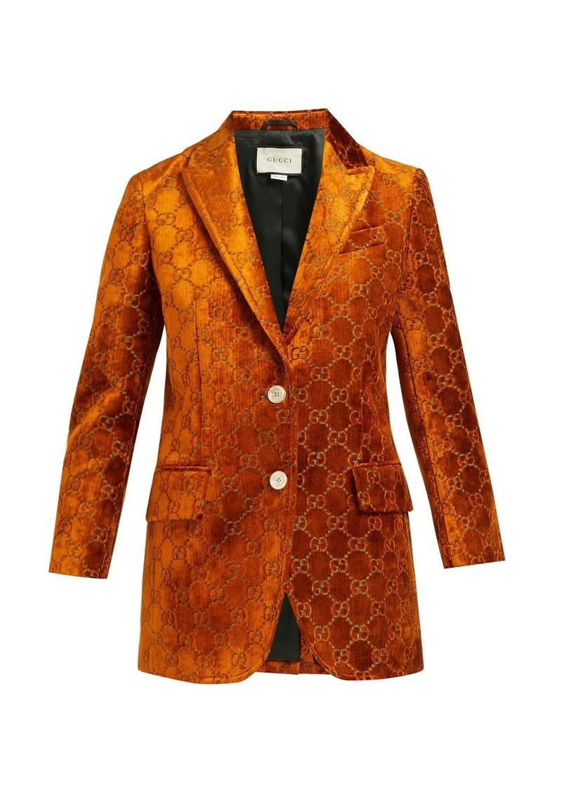 81849bf64 Gucci Gucci Embroidered velvet blazer | Outerwear