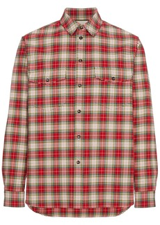 Gucci embroidered checked shirt