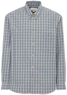 Gucci Embroidery Check Cotton Shirt
