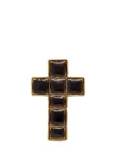 Gucci Enameled cross brooch