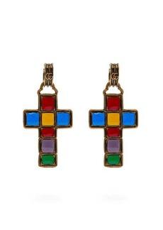 Gucci Enamelled cross earrings