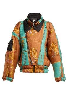 Gucci Equestrian-print padded jacket