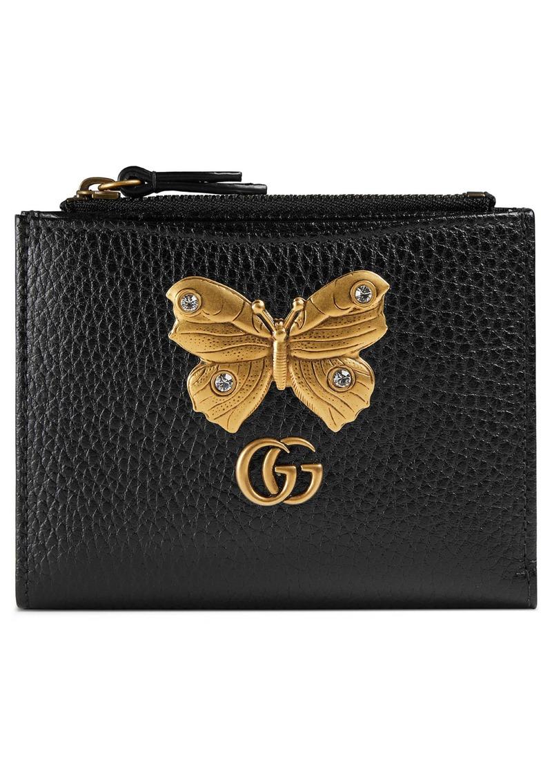 Gucci Gucci Farfalla Leather Wallet Handbags