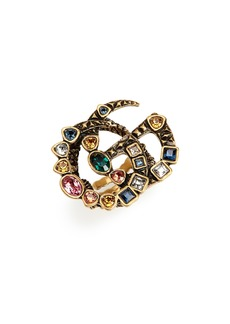 Gucci Fashion Show Double G Colored Crystal Ring
