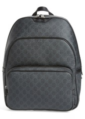 Gucci Faux Leather Logo Backpack