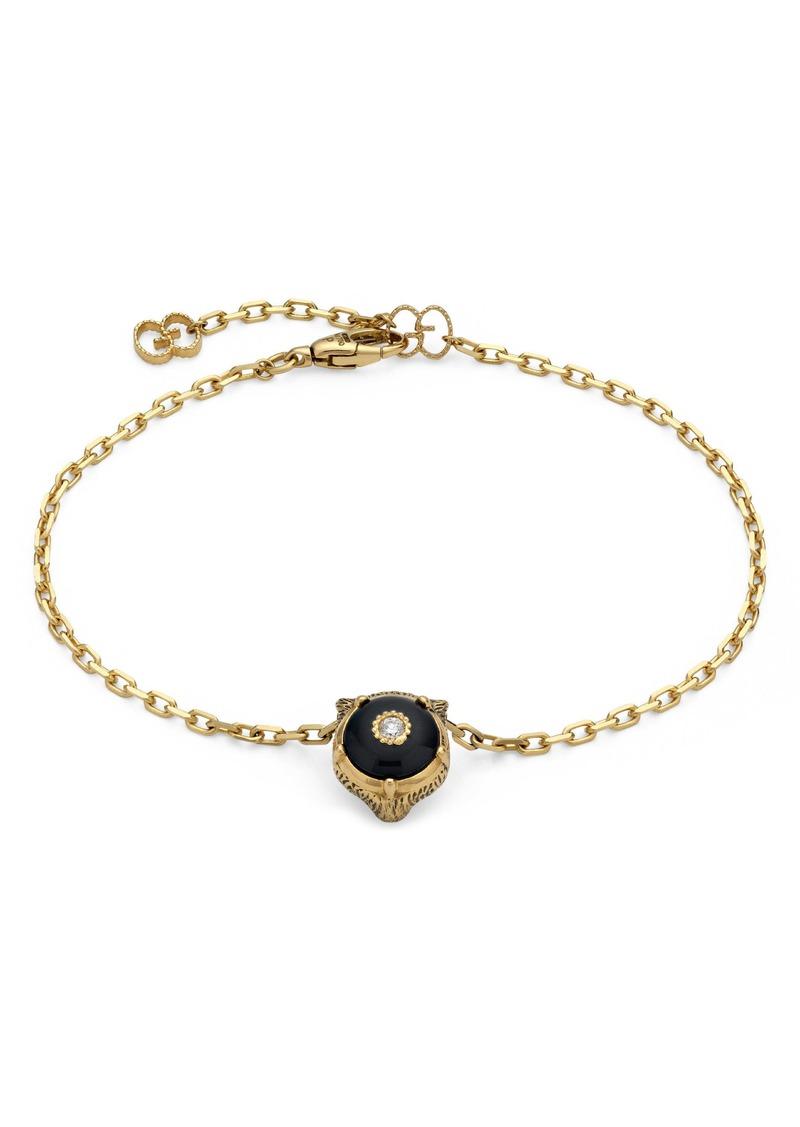 Gucci Le Marché des Merveilles Feline Head Reversible Bracelet