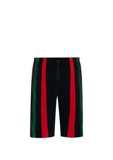 Gucci Felpa striped-chenille shorts