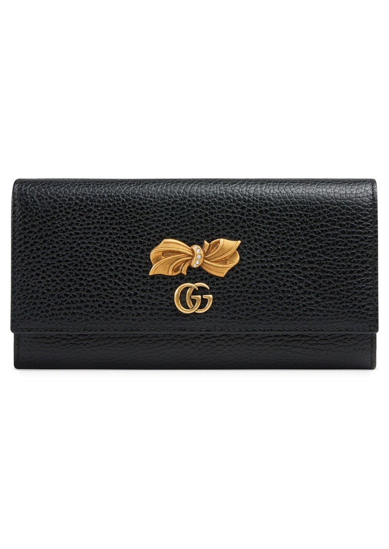 075a0458c48c Gucci Gucci Fiocchino Bow Leather Continental Wallet | Handbags