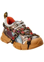 Gucci Flashtreck Crystal & Leather Sneaker