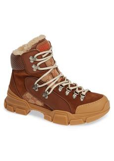 Gucci Flashtrek Genuine Shearling Boot (Men)