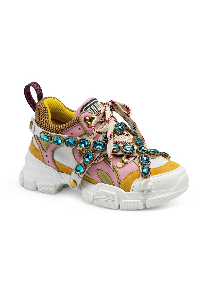 new list affordable price many fashionable Gucci Gucci Flashtrek Jewel Embellished Sneaker (Women) | Shoes