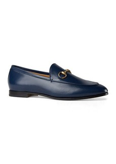 Gucci Flat Jordaan Leather Loafers