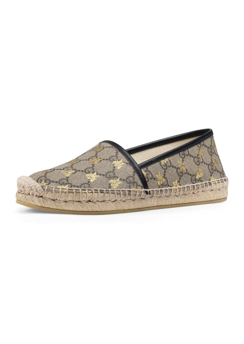 Gucci Flat Pilar GG Espadrille With Bees