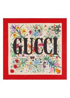 Gucci Flora City Square Silk Scarf
