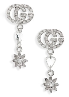 Gucci Flora GG Diamond Drop Earrings