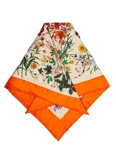 Gucci Flora-print quilted silk scarf