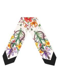 Gucci Flora Snake Silk Scarf