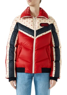 Gucci Floral & Stripe Puffer Jacket