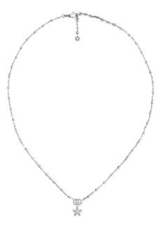 Gucci Floral Diamond Pendant Necklace