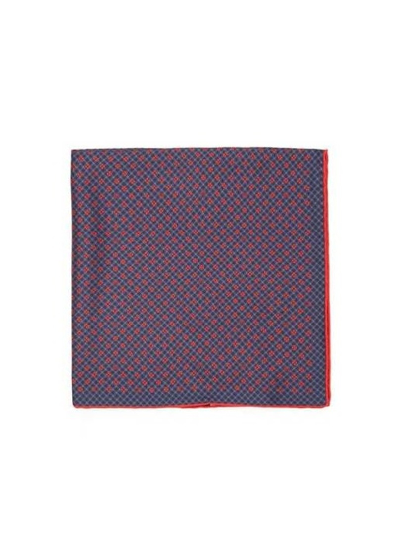Gucci Floral-GG gingham silk-faille pocket square