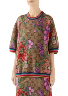 Gucci Floral GG Jacquard Wool Sweater
