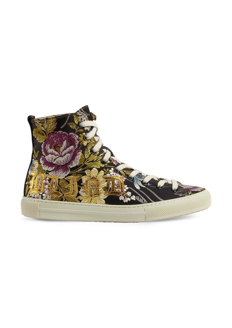 Gucci Gucci Floral High Top Sneaker (Women)  0b5d76200