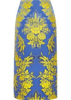 Gucci Floral-jacquard Midi Skirt