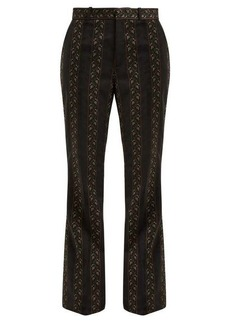 Gucci Floral-jacquard wool and silk-blend trousers