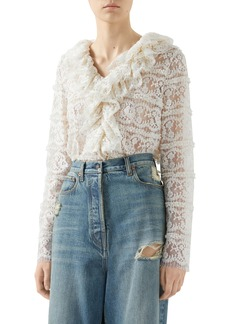 Gucci Floral Lace Top