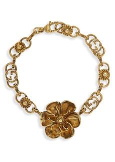 Gucci Floral Link Bracelet