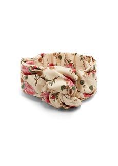 Gucci Floral-print leather headband