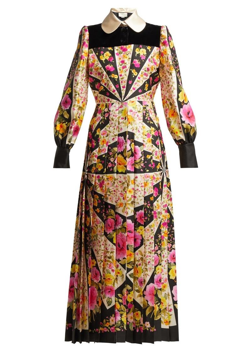 db81976a9 Gucci Gucci Floral-print silk-twill gown | Dresses