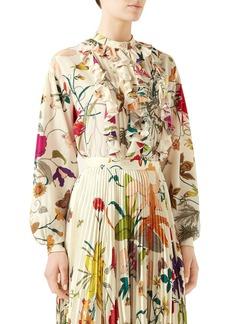 Gucci Floral Silk Crêpe de Chine Blouse