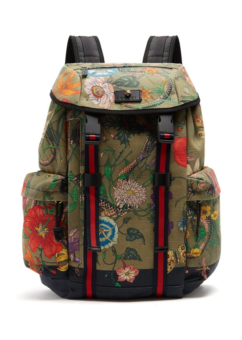 b2231d1dcd82 Gucci Gucci Floral Snake print backpack | Bags