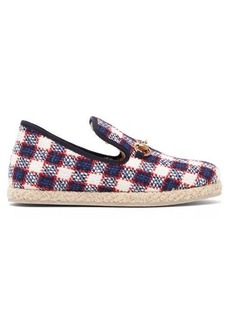 Gucci Fria checked wool-tweed slippers