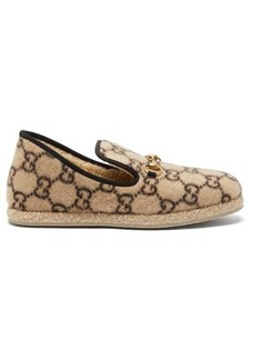 Gucci Fria GG-print felted-wool loafers
