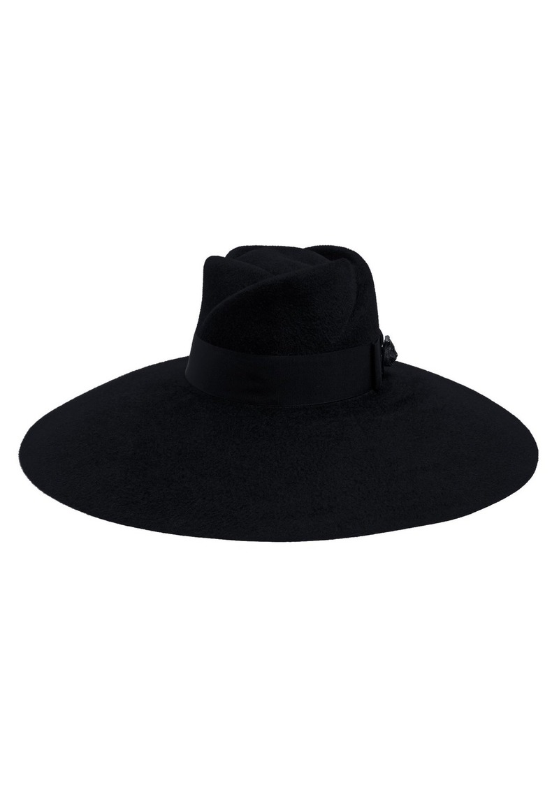 283cf0da30f82 Gucci Gucci Trilby wide-brim felt hat