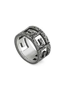 Gucci G-Cube Cutout Band Ring