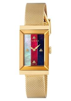 Gucci G-Frame Mesh Strap Watch, 21mm x 34mm